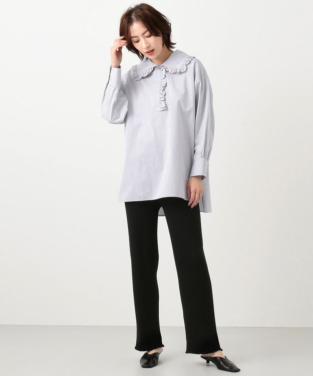 #Newans 【マガジン掲載】AUDREY/ フリルカラーシャツ(番号NF48)