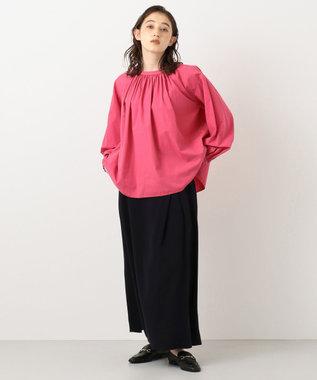 #Newans 【マガジン掲載】KATIE/ オールギャザーブラウス(番号NF45) ピンク系