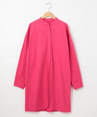 #Newans 【マガジン掲載】KATIE/ バンドカラーチュニック(番号NF44) ピンク系