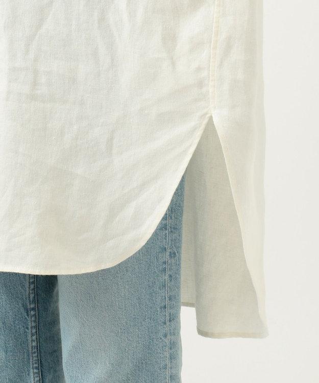 23区 【SLOW】LINEN TWILLロングシャツ