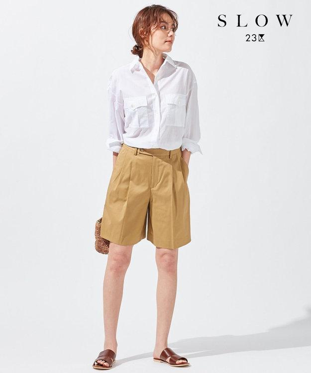 23区 【SLOW】COTTON LAWN シャツ