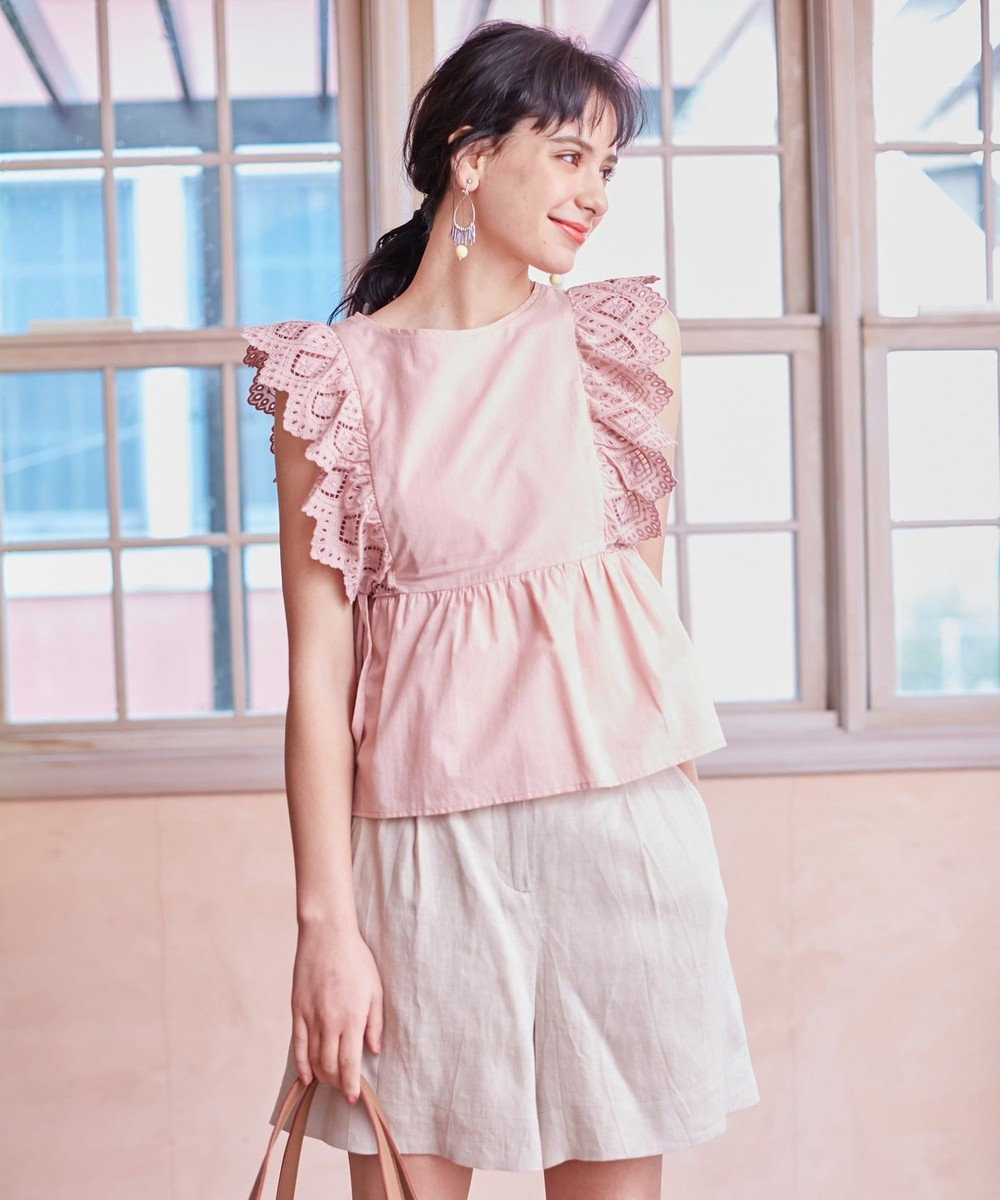 TOCCA 【TOCCA LAVENDER】Food Textile Cotton Embroidery ブラウス ピンク系7