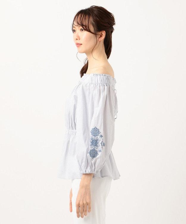 TOCCA 【TOCCA LAVENDER】Stripe Embroidery ブラウス
