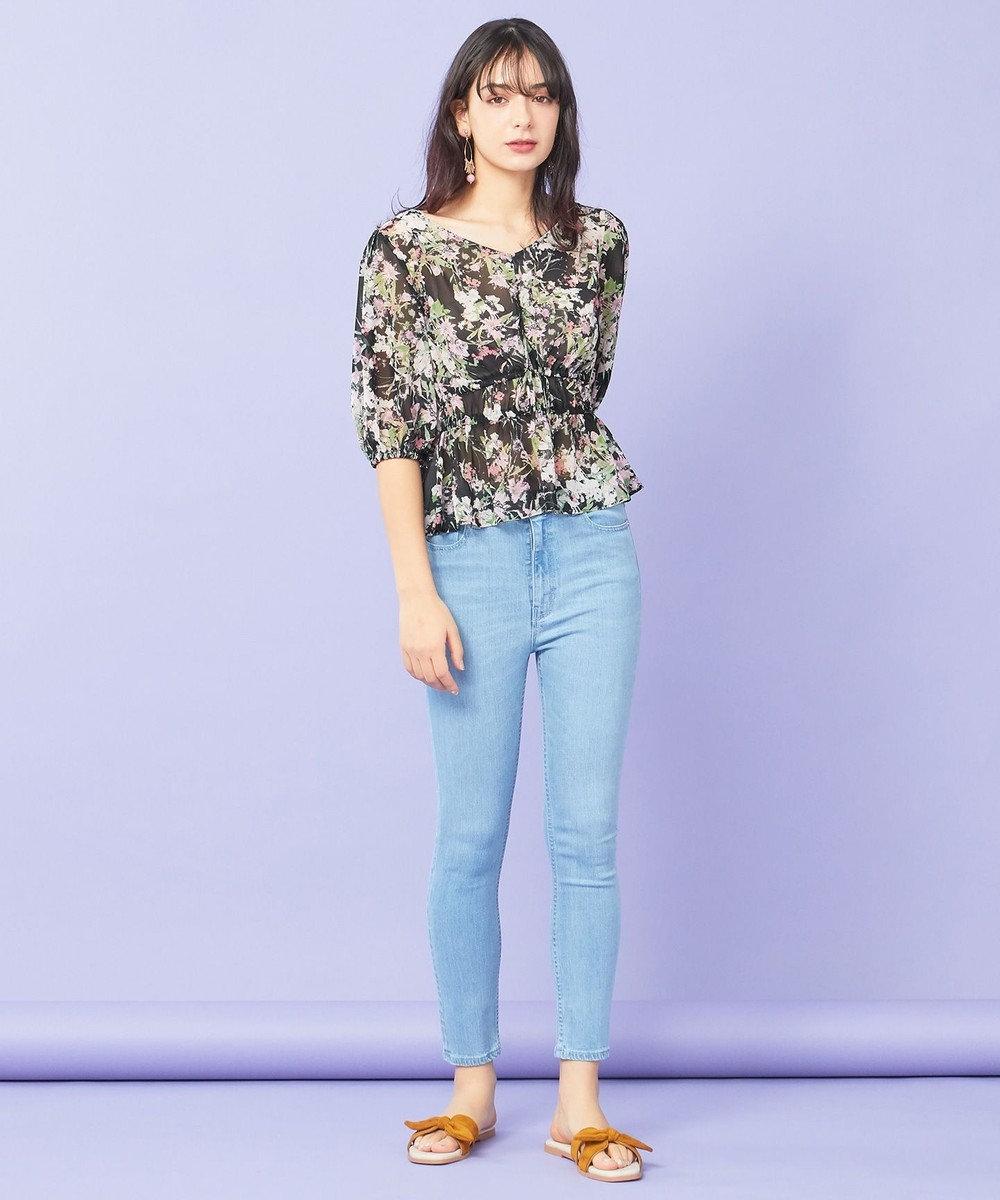 TOCCA 【TOCCA LAVENDER】Floral Chiffon ブラウス ブラック系5
