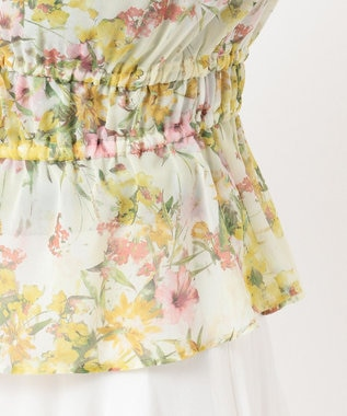 TOCCA 【TOCCA LAVENDER】Floral Chiffon ブラウス イエロー系5