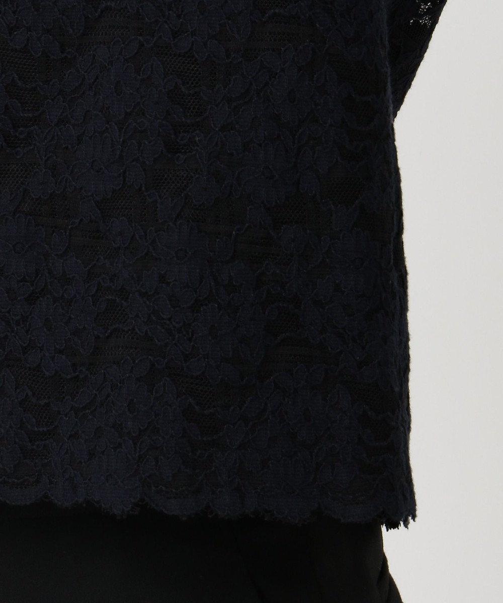 自由区 【マガジン掲載】フラワージャカード レースブラウス(検索番号F56) ネイビー系9