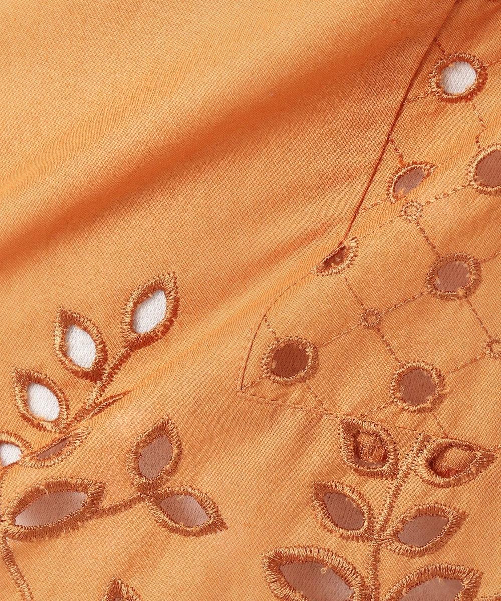 自由区 【亜希さん着用】エンブロイダリーコットン ブラウス(検索番号H35) オレンジ