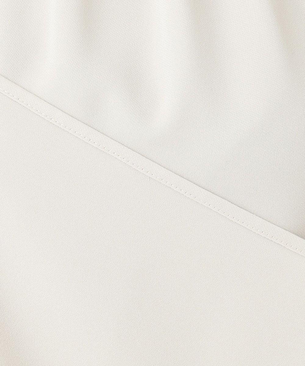 23区 L 【洗える】パウダリージョーゼット ギャザー ブラウス ライトグレー系