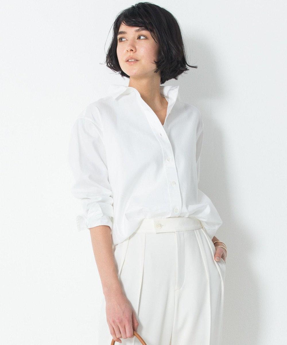 23区 【洗える】Cancliniチュニック シャツ ホワイト系
