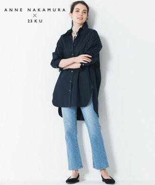 23区 L 【中村アンさんコラボ】Cancliniシルエット シャツ ネイビー系