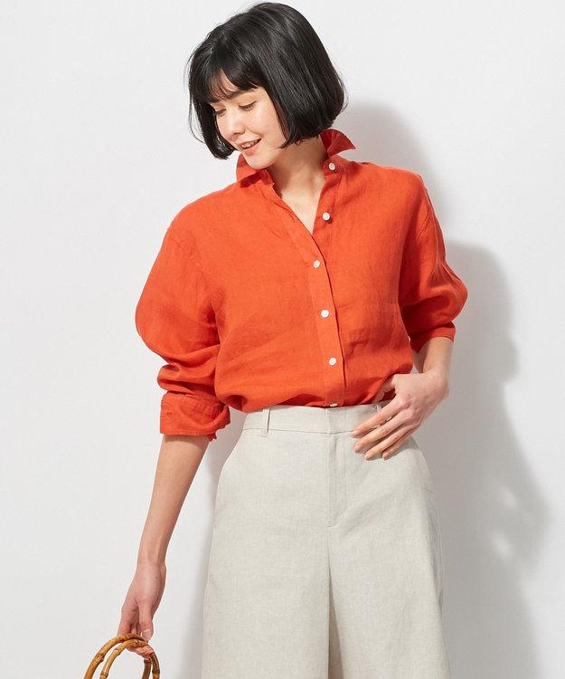 23区 L 【洗える】LIBECO LINENシャツ