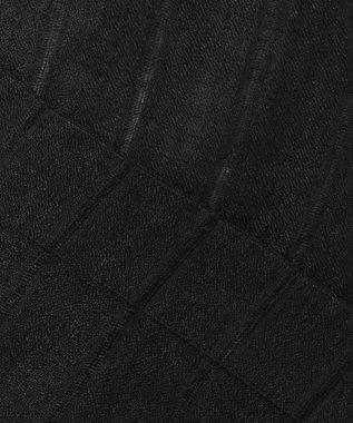 23区 L LIBECOLINENストライプ ブラウス ブラック系