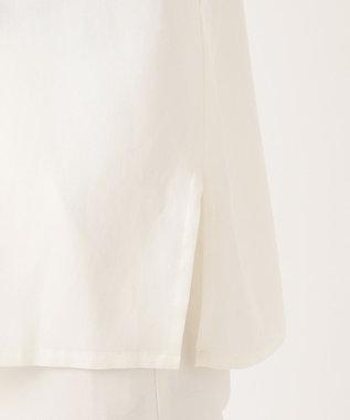 23区 S 【洗える】エアリーキュプラサテン ブラウス ホワイト系