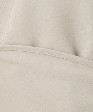 23区 L 【マガジン掲載】パウダリージョーゼット パールブラウス(検索番号F38) ベージュ系