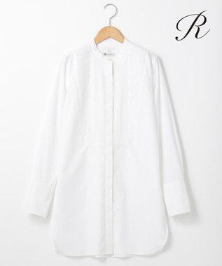 23区 【R(アール)】THOMAS MASON SHIRTING バンドカラーシャツ(検索番号R24) ホワイト系