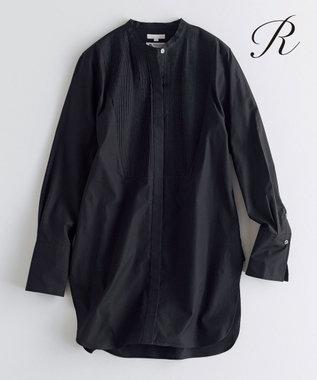 23区 【R(アール)】THOMAS MASON SHIRTING バンドカラーシャツ(検索番号R24) ブラック系