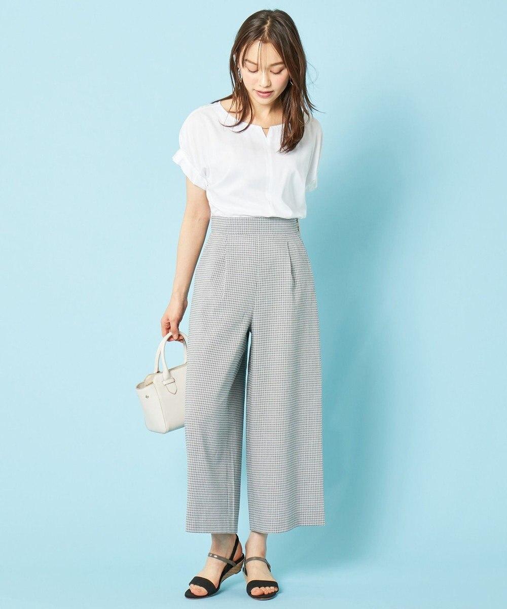 any SiS 【洗える】バーポイントシャツ ブラウス オフホワイト