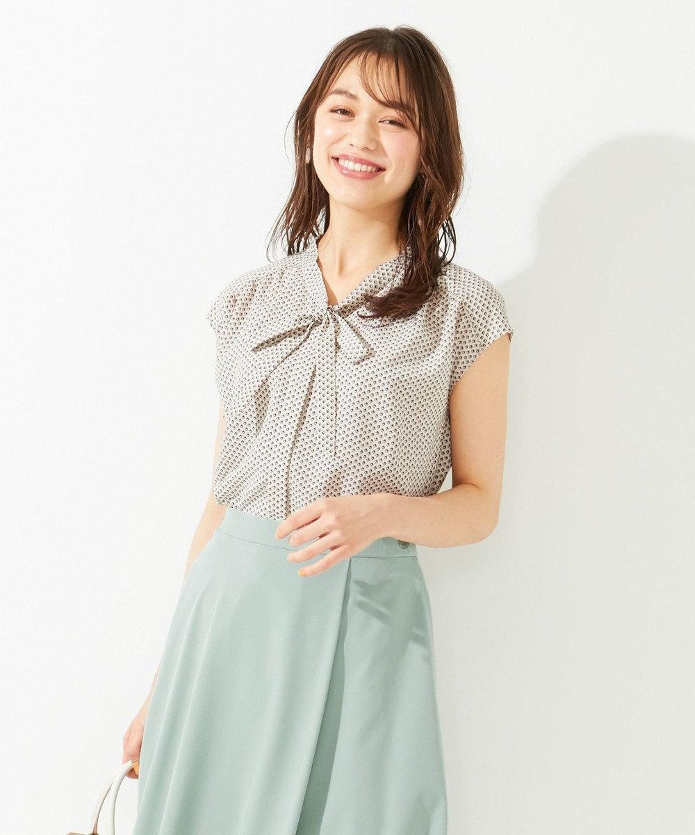any SiS L 【美人百花8月号掲載】ボウポイント フレンチスリーブ ブラウス アイボリーベース