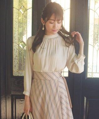 any SiS S 【美人百花3月号掲載】スタンドカラー ブラウス アイボリーベージュ