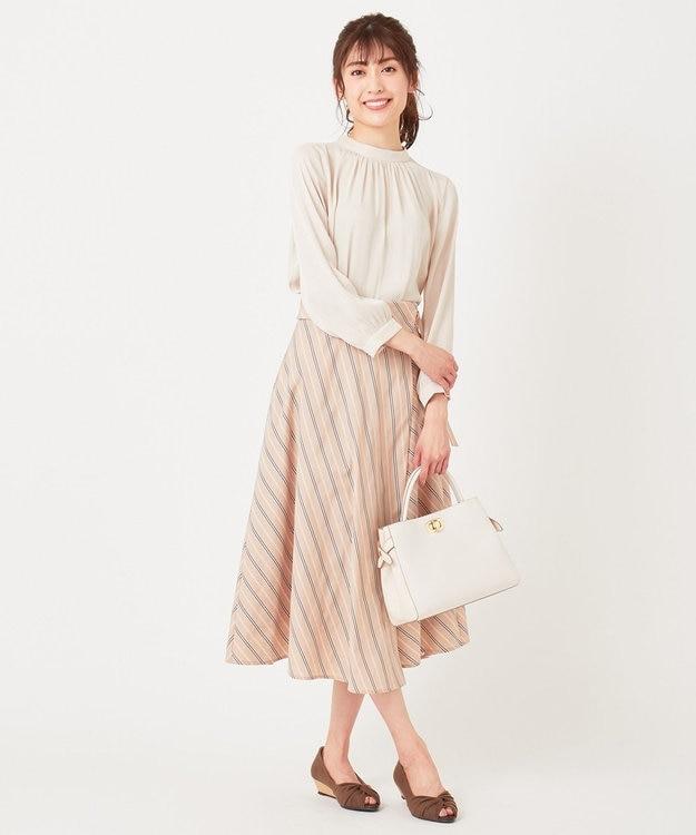 any SiS S 【美人百花3月号掲載】スタンドカラー ブラウス