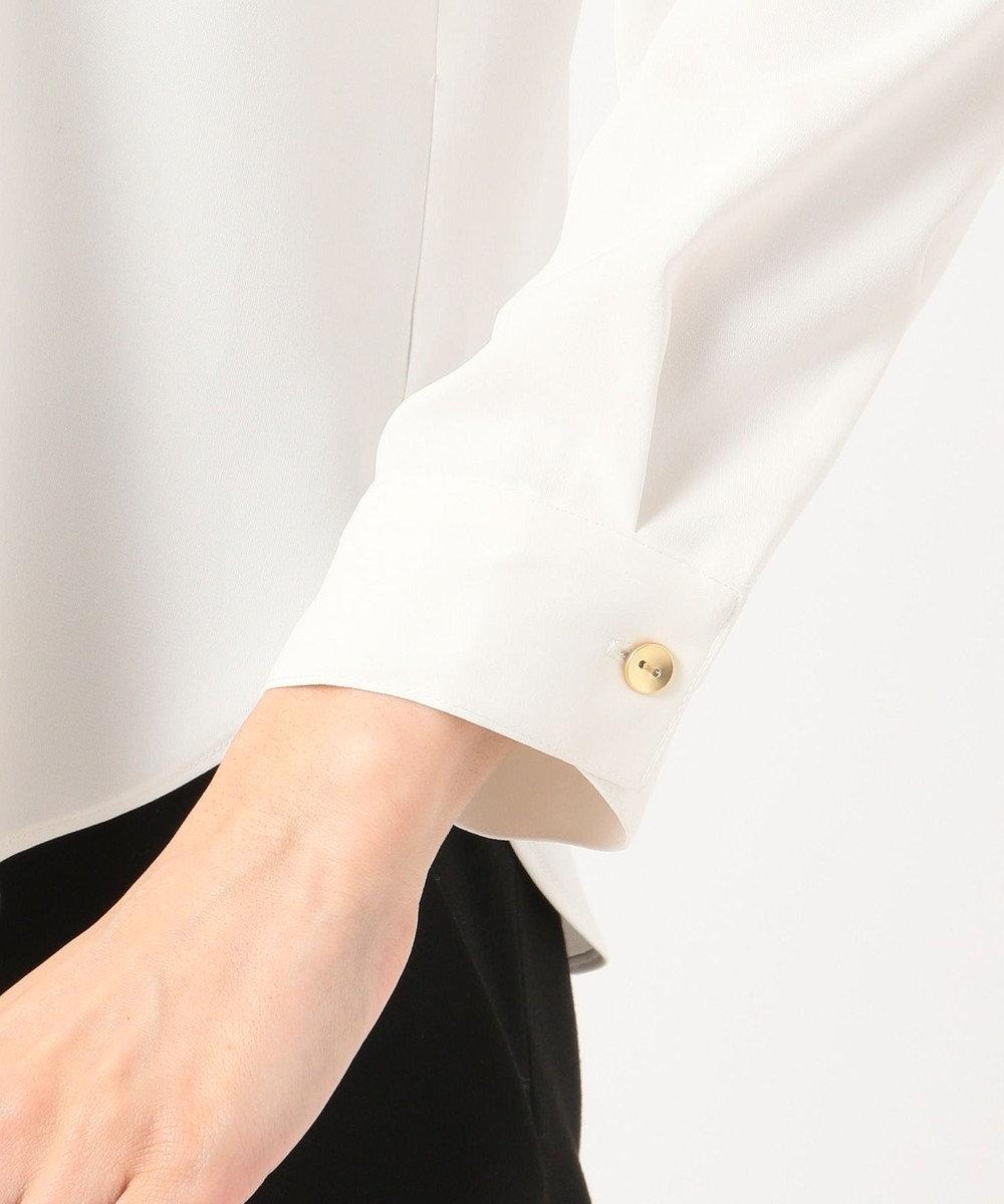 any SiS L 【田中みな実さん着用】Vネックボタン ブラウス オフホワイト