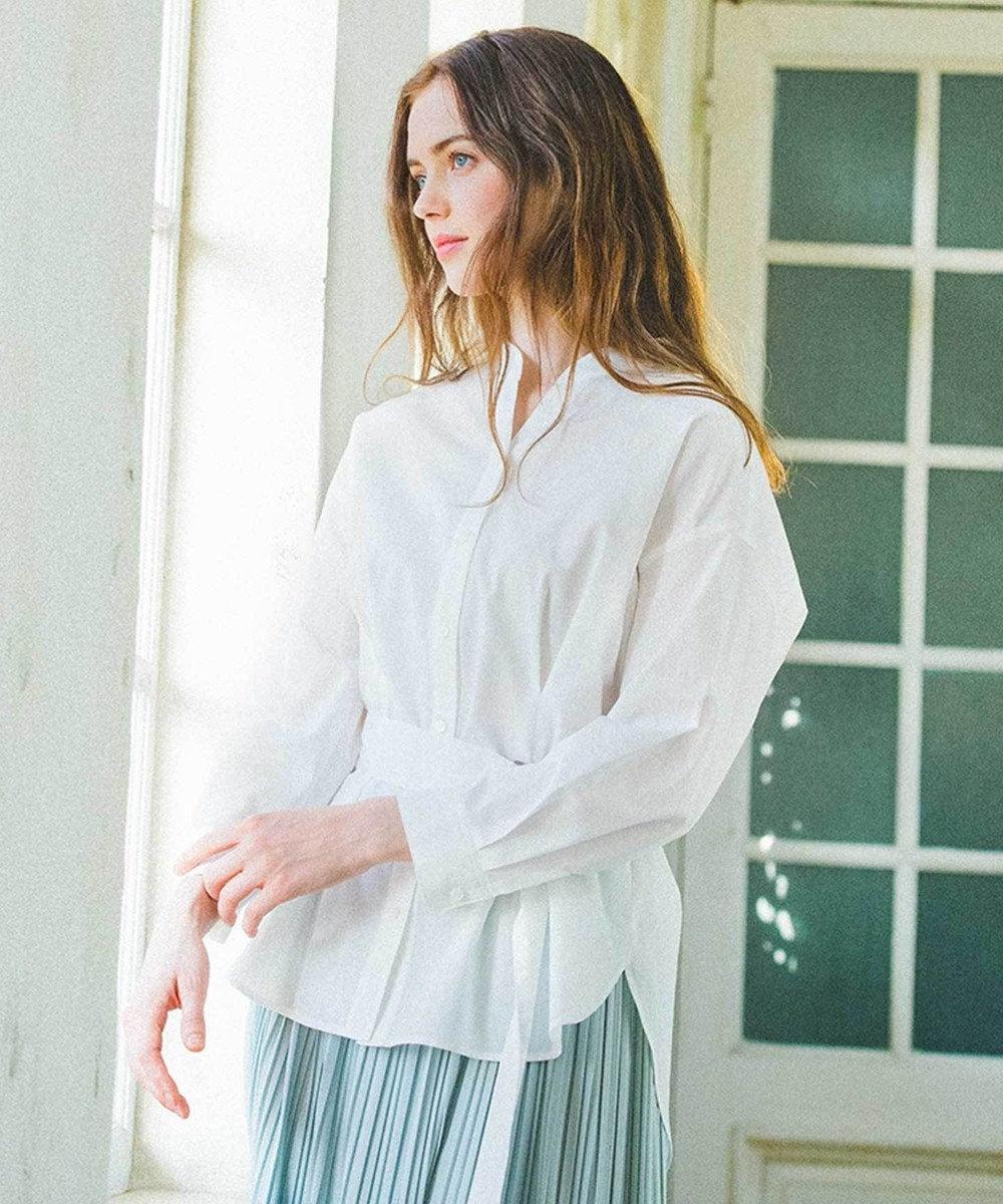 any SiS 【Dカンベルト付き】2WAYシャツ ブラウス オフホワイト
