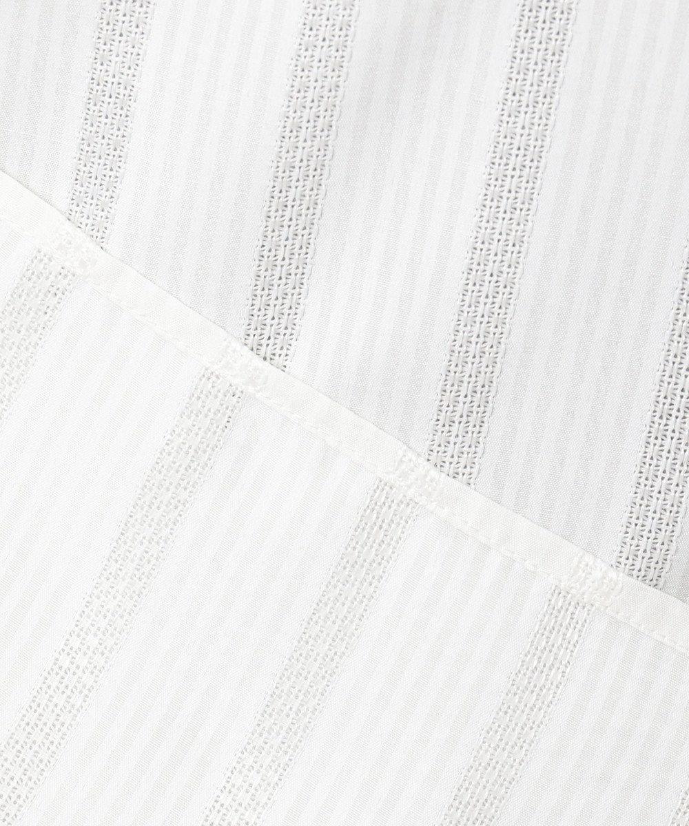 any SiS L 【洗える】カラミストライプ ブラウス オフホワイト