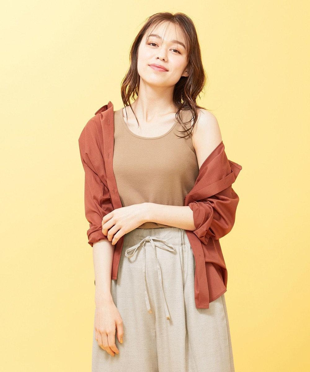 any SiS 【Ray6月号掲載】キュームコアローン シャツ テラコッタ