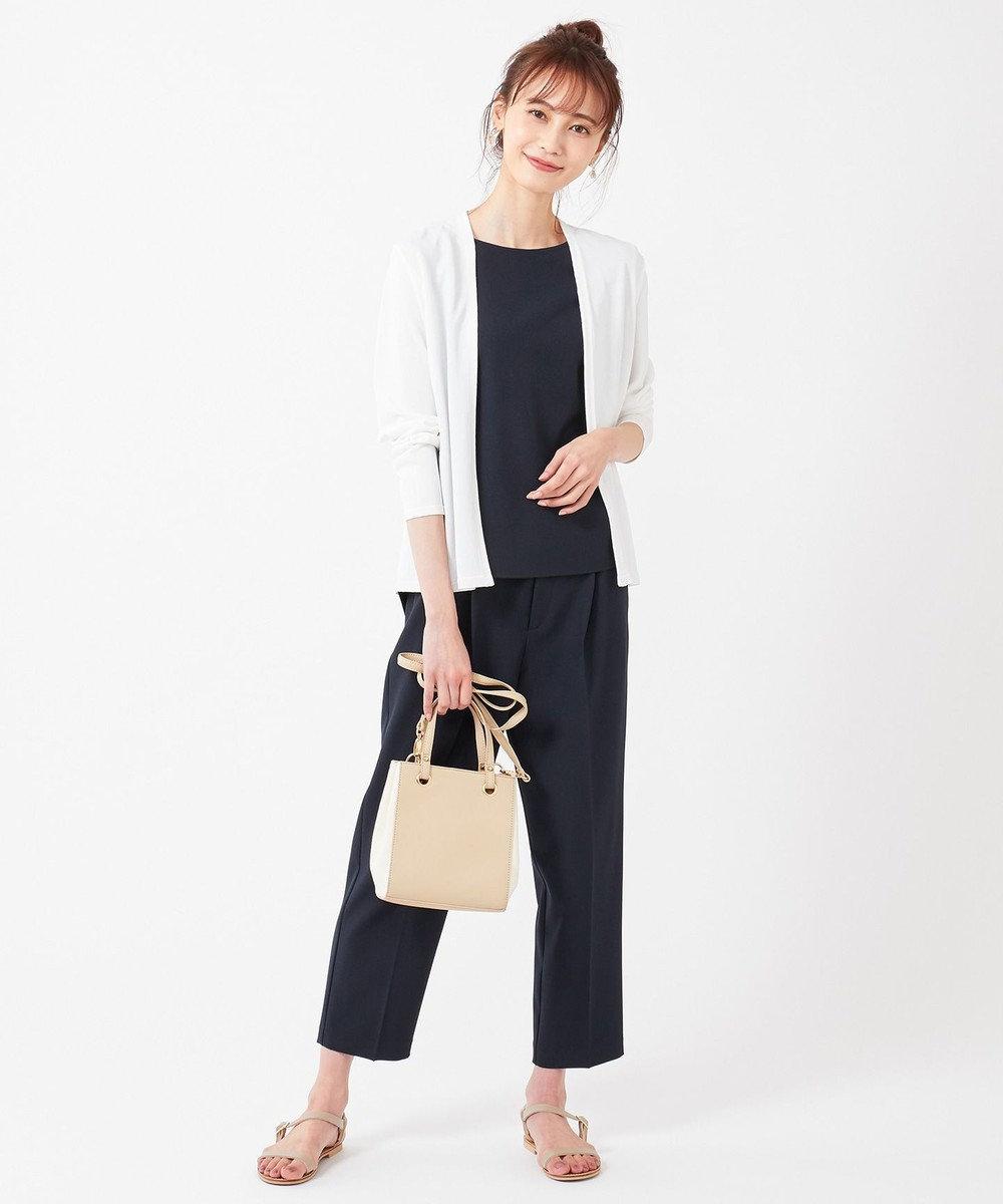 any SiS S 【美人百花6月号掲載】リネンライクポリエステル ブラウス ネイビー