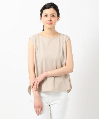 any SiS S 【美人百花6月号掲載】リネンライクポリエステル ブラウス サンドベージュ