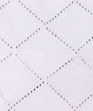 any SiS 【洗える】コットン刺繍レース ブラウス ペールラベンダー