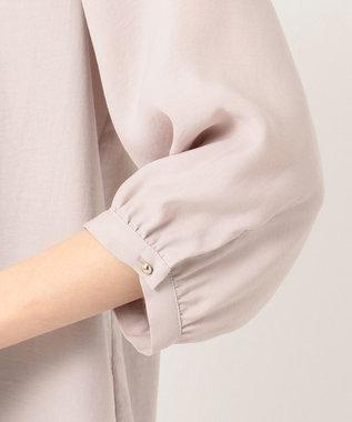any SiS L 【洗える】シャーリングポイント ブラウス ローズグレー