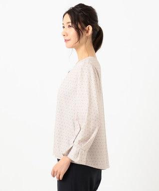 any SiS 【美人百花5月号掲載】タックデザイン ジョーゼット ブラウス ローズグレーベース