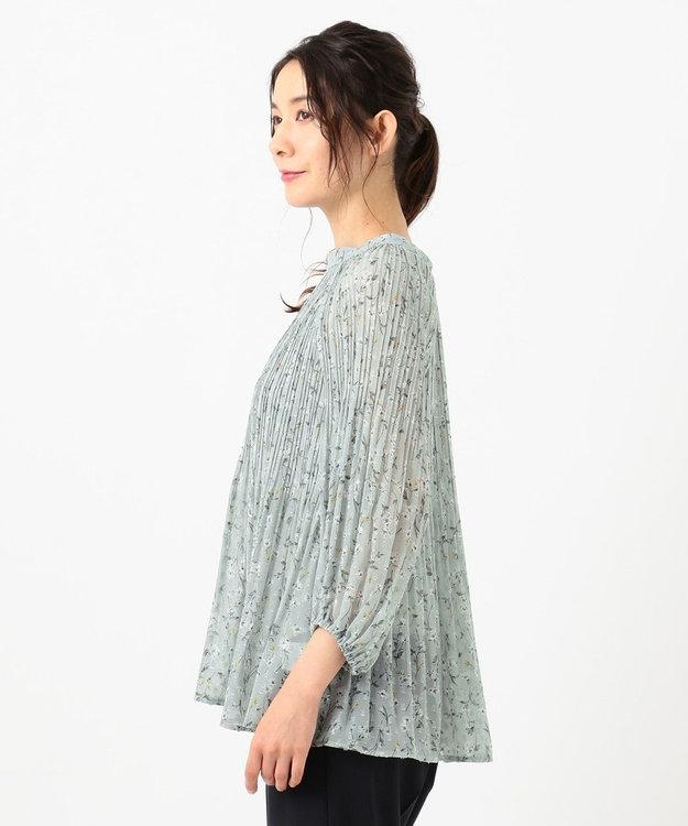 any SiS L 【洗える】シアーボタニカルフラワー ブラウス