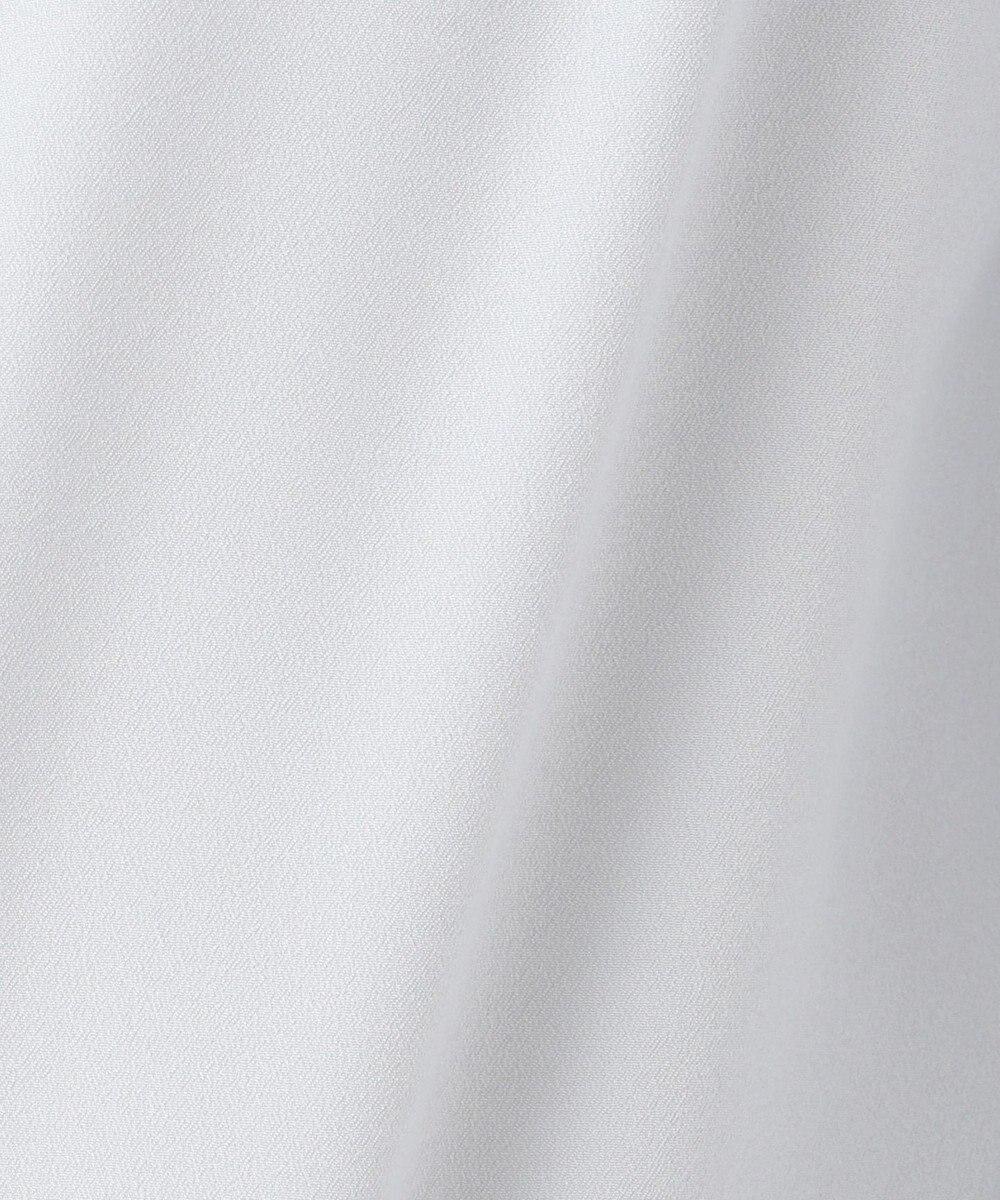 any SiS 【洗える】リボンネック ブラウス スカイブルー系