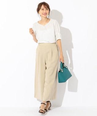 any SiS L 【泉里香さん着用】プチドットジョーゼット ブラウス ホワイト系