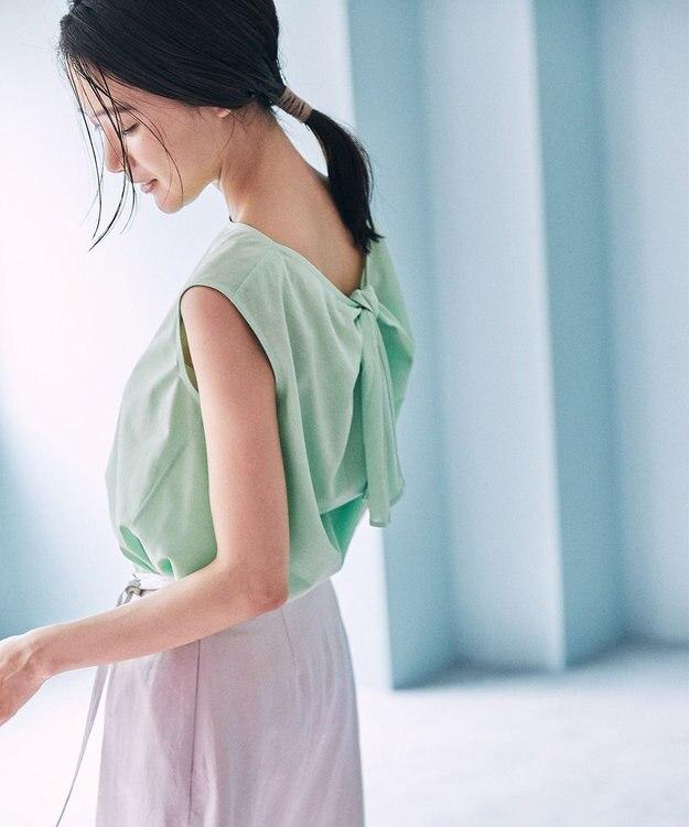 組曲 【Rythme KUMIKYOKU】ハイゲージジャージ バックリボンTシャツ グリーン系