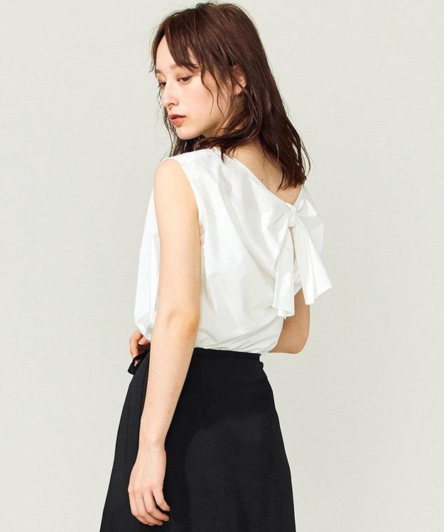 組曲 【Rythme KUMIKYOKU】ハイゲージジャージ バックリボンTシャツ ホワイト系