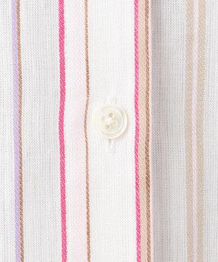 組曲 【洗える】SOMELOSマルチストライプ シャツ ピンク系1