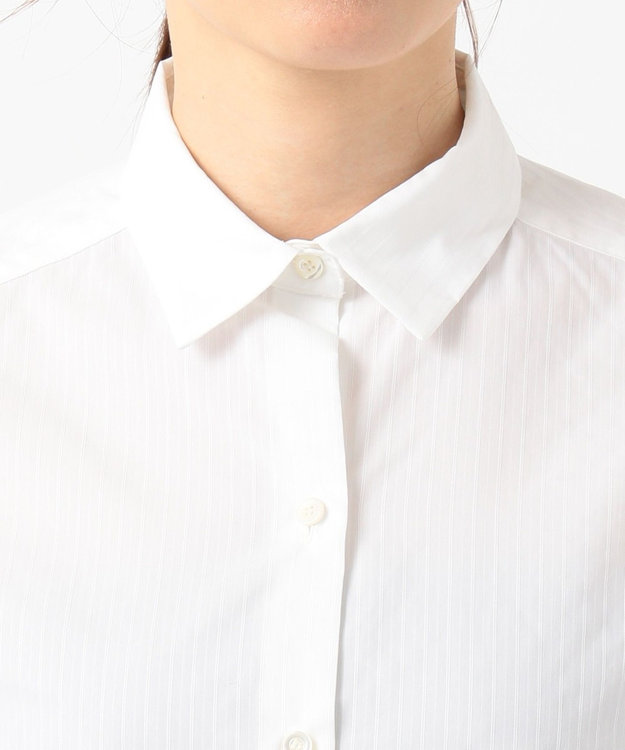 組曲 L 【リクルート対応/洗える】ストレッチシャーティング シャツ