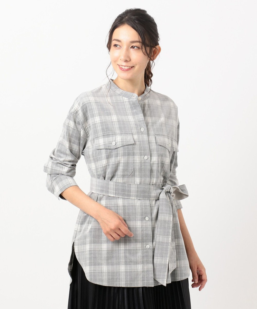 組曲 【洗える】コットンソフト コーデュロイ シャツ ホワイト系3