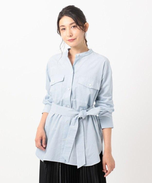 組曲 【洗える】コットンソフト コーデュロイ シャツ