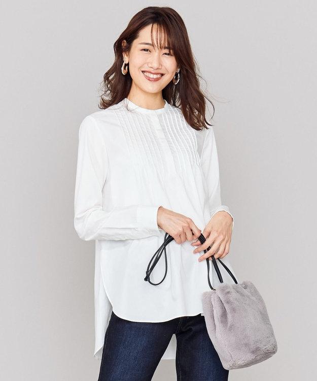 組曲 S 【mi-mollet掲載】コットンピーチタイプライター ブラウス