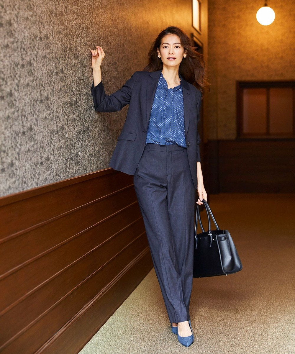 J.PRESS LADIES 【A4サイズ収納可】エコトート付きセレモニー バッグ ブラック系