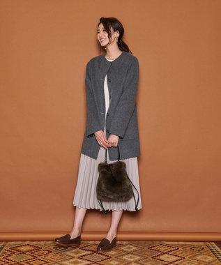J.PRESS LADIES 【3WAY】エコファーバッグ ブラウン系
