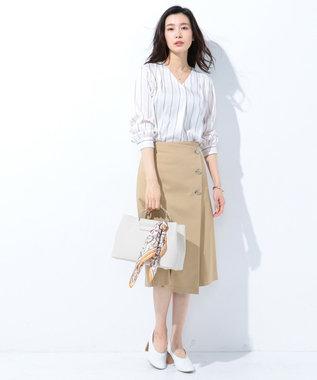 J.PRESS LADIES 【2way】3ポケットトートバッグ ベージュ系