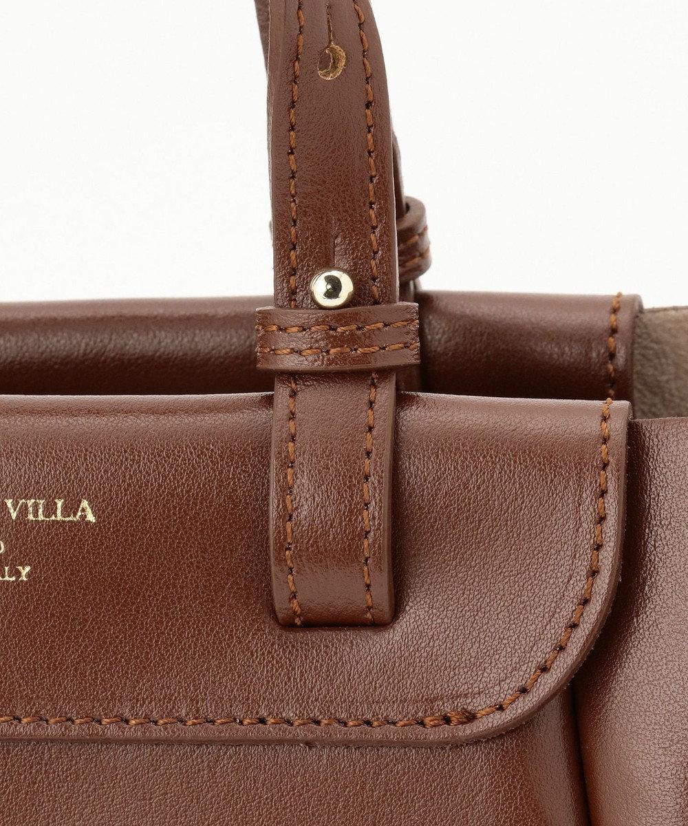 自由区 【マガジン掲載】イタリア CHRISTIAN VILLA レザーバッグ(検索番号N76) ダークブラウン系