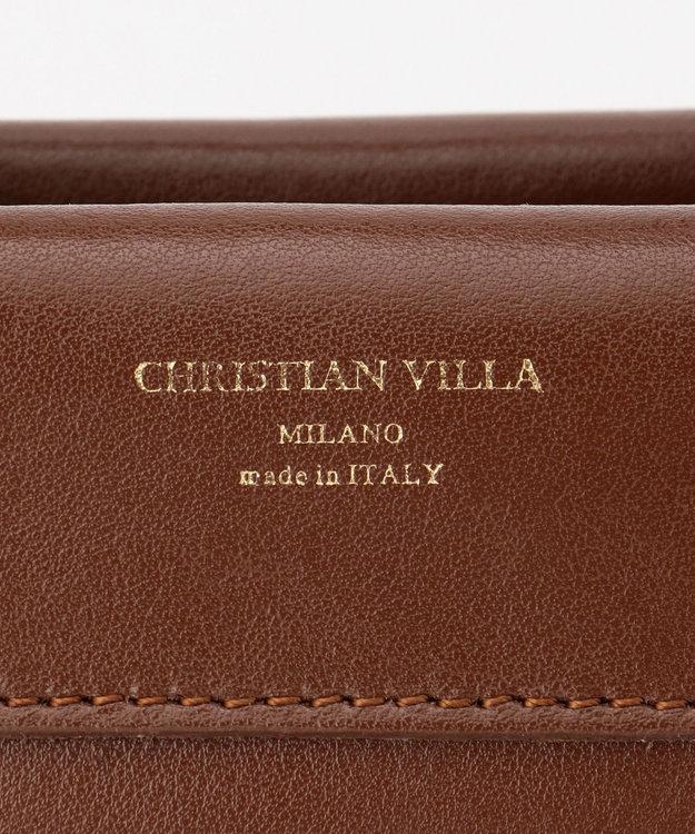 自由区 イタリア【CHRISTIAN VILLA】レザーバッグ(検索番号Q33)