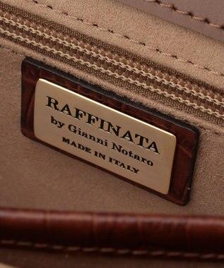 23区 【マガジン掲載】RAFFINATA クロコ型押しショルダーバッグ(検索番号H79) ダークブラウン系
