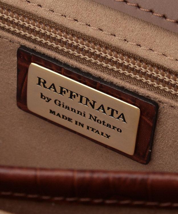 23区 【マガジン掲載】RAFFINATA クロコ型押しショルダーバッグ(検索番号H79)